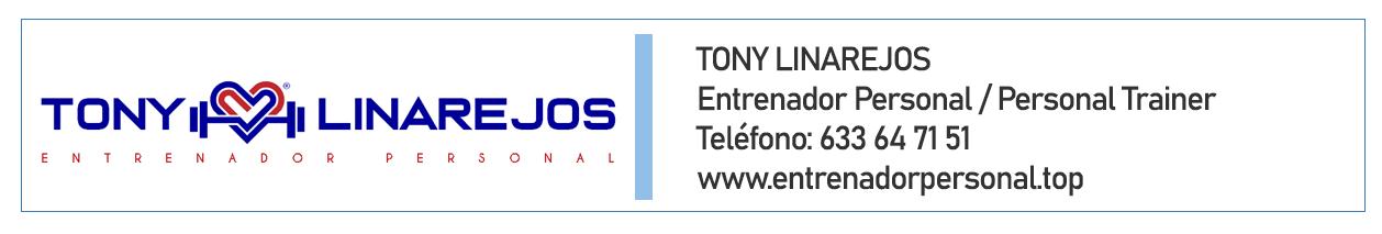 Entrenador personal Tony Linarejos