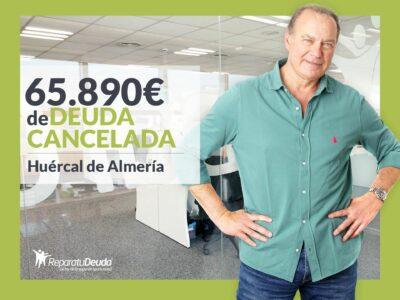 Repara tu Deuda abogados cancela 65.890€ en Huércal de Almería con la Ley de Segunda Oportunidad