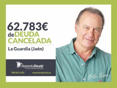 Repara tu Deuda Abogados cancela 62.783€ en La Guardia (Jaén) con la Ley de Segunda Oportunidad