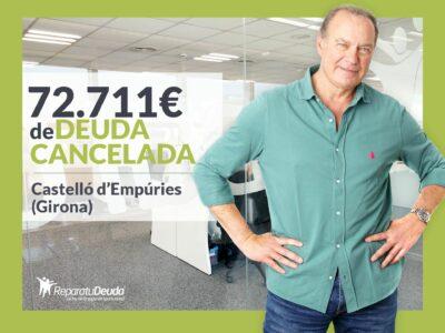 Repara tu Deuda cancela 72.711 € en Castelló d'Empúries (Girona) con la Ley de la Segunda Oportunidad