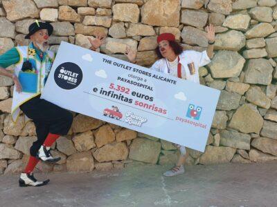 The Outlet Stores Alicante dona 5.392 euros a Payasospital en su última iniciativa solidaria