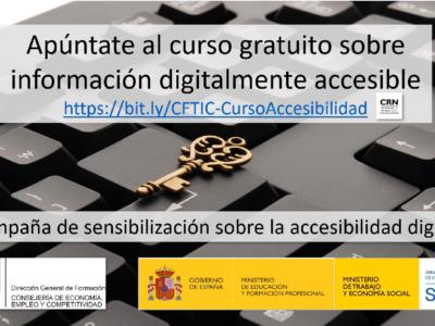 Campaña de concienciación y formación para la accesibilidad digital
