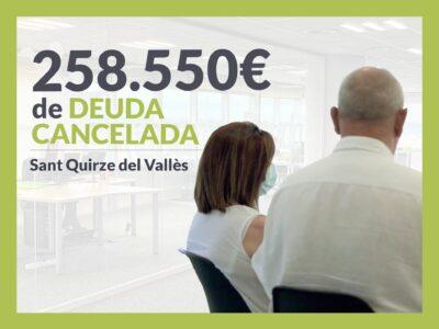 Repara tu Deuda cancela 258.550 € en Sant Quirze del Vallès (Barcelona) con la Ley de Segunda Oportunidad