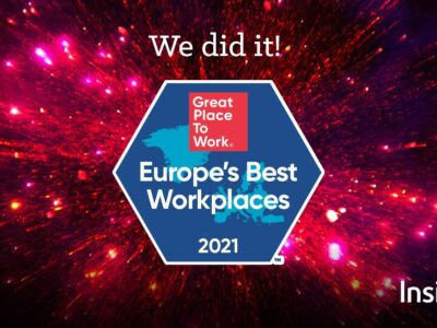 Insight, clasificada como uno de los Best Workplaces in Europe™ de 2021 por Great Place to Work®