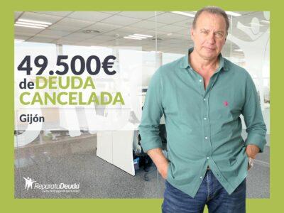 Repara tu Deuda Abogados cancela 49.500€ en Gijón (Asturias) con la Ley de Segunda Oportunidad