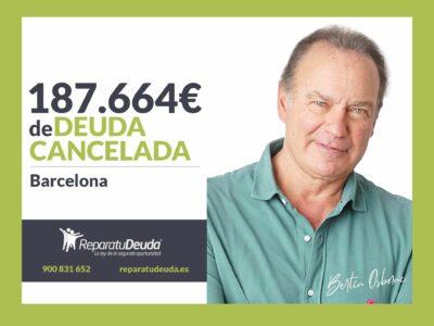 Repara tu Deuda Abogados cancela 187.664€ en Barcelona (Cataluña) con la Ley de Segunda Oportunidad